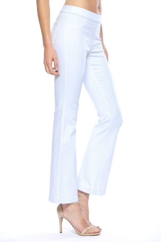 White Wash Flared Jegging 30 Inches Inseam White