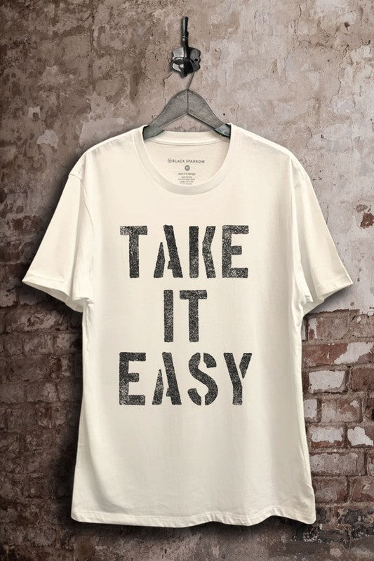 Buy Take It Easy Graphic Tee White online at Southern Fashion Boutique Bliss