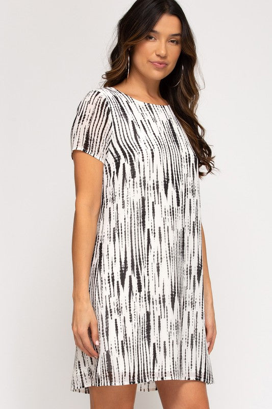 Buy Woven Printed Dress with Lining Black online at Southern Fashion Boutique Bliss