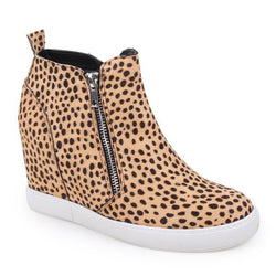 Buy Hidden Wedge Platform Ankle Sneakers Leopard online at Southern Fashion Boutique Bliss