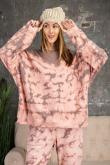 Buy Tie Dye Washed Terry Knit Top Mauve online at Southern Fashion Boutique Bliss