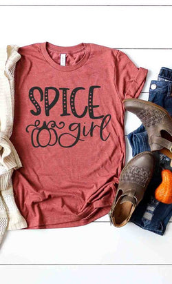 Spice Girl Graphic Tee Heather Clay