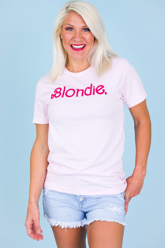 Blondies Do It Better Graphic Tee Soft Pink