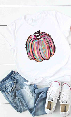 Buy Modern Pumpkin Graphic Tee White online at Southern Fashion Boutique Bliss