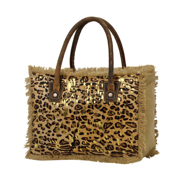 Boast Canvas & Hairon Leopard Bag Purse