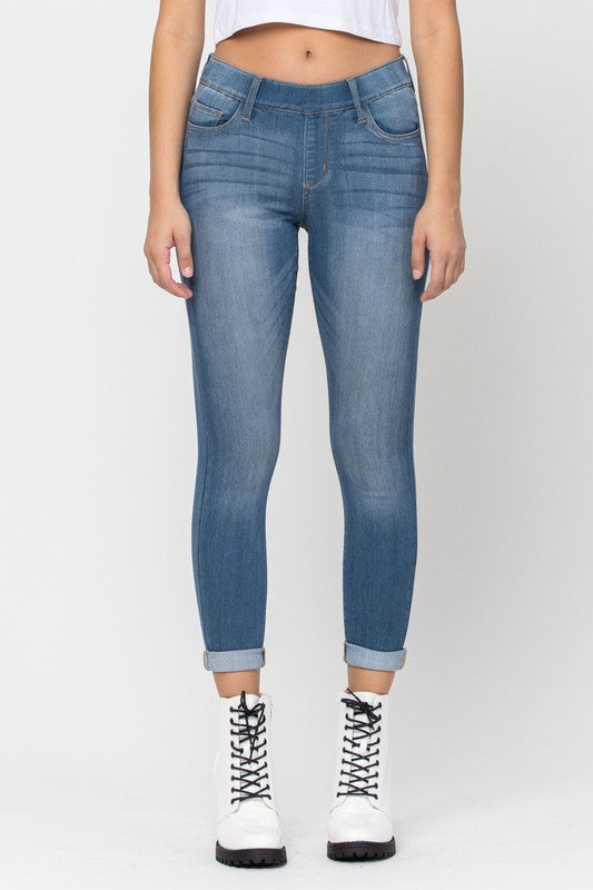 Buy Mid Rise Pull On Crop Skinny Jeans Medium online at Southern Fashion Boutique Bliss