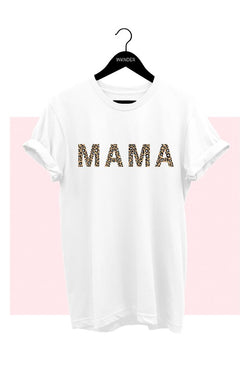 Buy Mama Leopard Graphic Tee White online at Southern Fashion Boutique Bliss