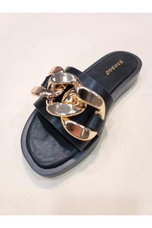 Buy One Toe Casual Chain Sandal Black online at Southern Fashion Boutique Bliss