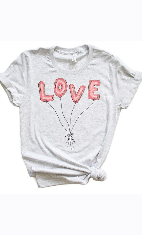 Buy Love Balloons Valentine Tee Ash Grey online at Southern Fashion Boutique Bliss