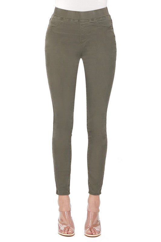 Pull On Skinny Jeans Olive