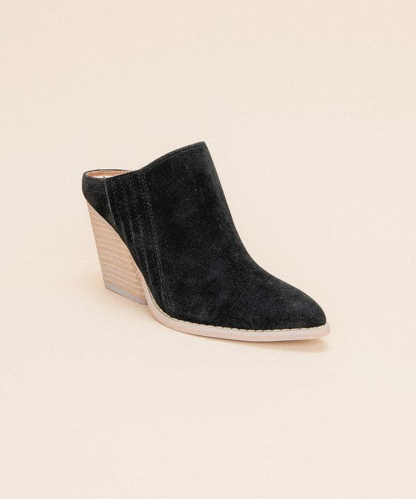 Buy Open Back Chunky Hill Wedge Mule Black online at Southern Fashion Boutique Bliss