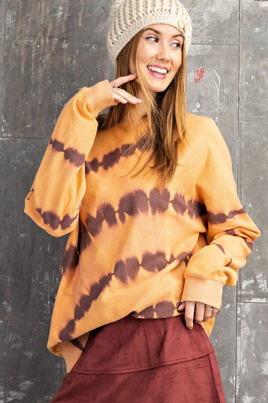 Buy Long Sleeve Tie Dye Pullover Coral online at Southern Fashion Boutique Bliss