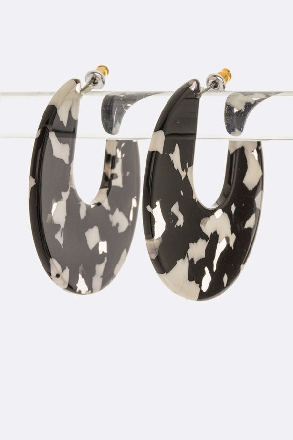 Buy Celluloid Iconic Hoop Earrings Black online at Southern Fashion Boutique Bliss