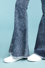 Buy Hi Waist Super Flare Acid Wash Jeans online at Southern Fashion Boutique Bliss