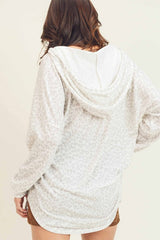 Buy Hooded Top w/ Long Banded Sleeves White online at Southern Fashion Boutique Bliss