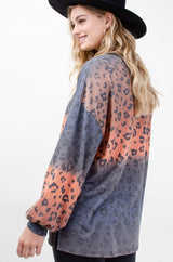Buy Tie Dye Animal Print Tunic Coral/Navy online at Southern Fashion Boutique Bliss