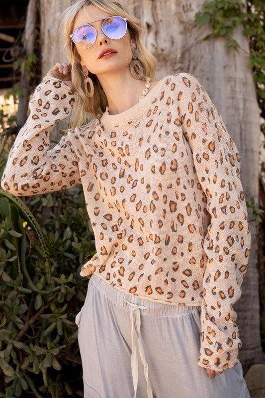 Buy Lightweight Long Sleeve Leopard Print Top Brown online at Southern Fashion Boutique Bliss