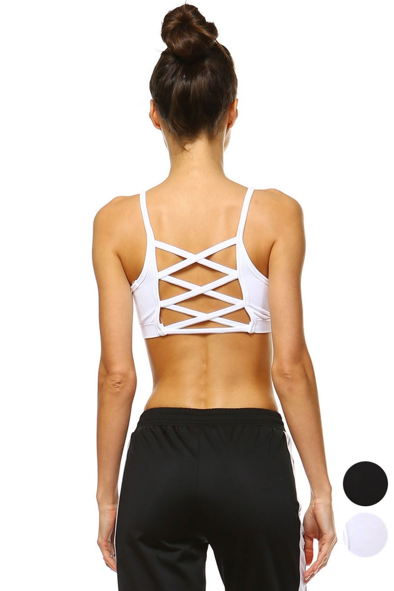 Buy Lattice Back Bralette White online at Southern Fashion Boutique Bliss