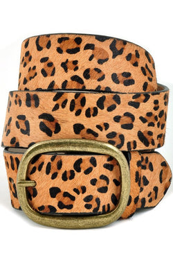 Buy Cow Hair Leopard Print Leather Belt online at Southern Fashion Boutique Bliss