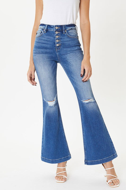 Buy Petite High Rise Flare Jeans Medium online at Southern Fashion Boutique Bliss