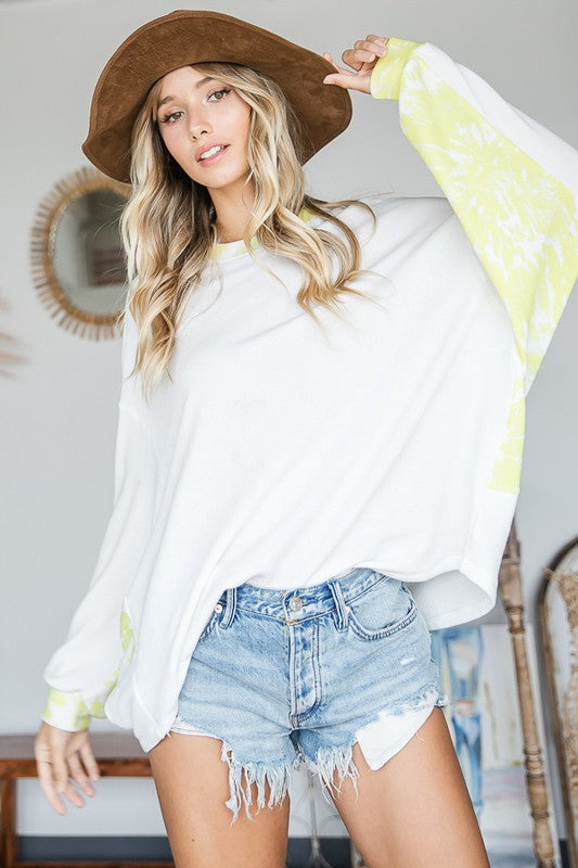 Buy Contrast Detailed Solid Soft Knit Top White online at Southern Fashion Boutique Bliss