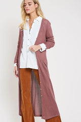 Buy Waffle Knit Long Sleeve Cardigan Red Bean online at Southern Fashion Boutique Bliss