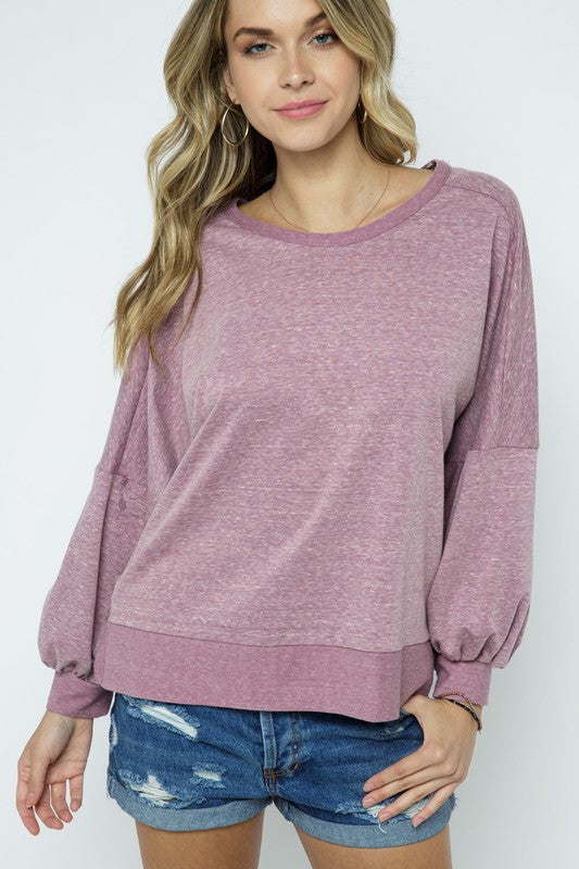 Buy Knit Top with Crossover Open Back Mauve online at Southern Fashion Boutique Bliss