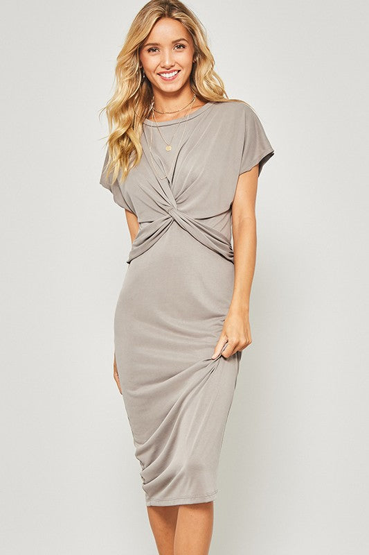 Twisted Knotted Front Knit Dress Coco