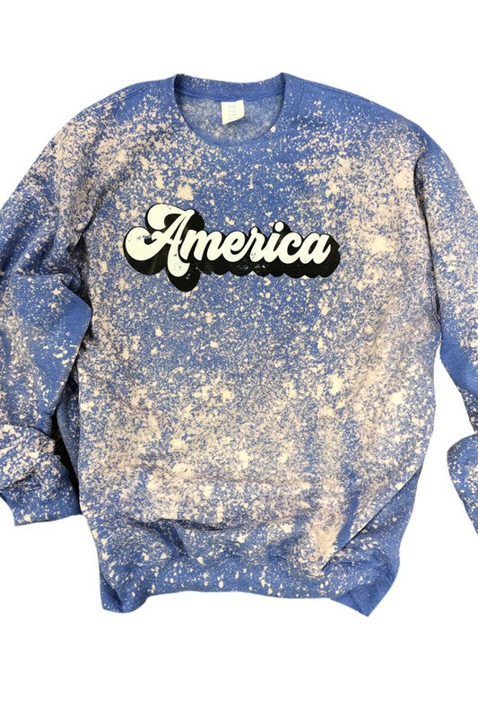 American Groovy Bleach Art Sweatshirt