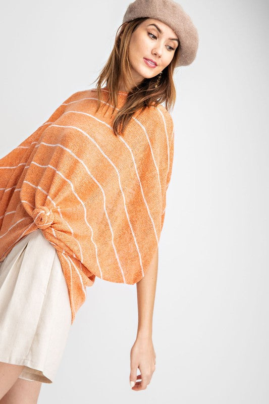 Buy Striped Hacci Knit Dolman Top Sunkist online at Southern Fashion Boutique Bliss