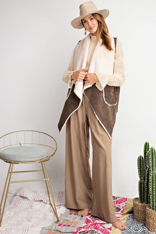 Buy Corduroy Suede-Like Sleeveless Vest Olive online at Southern Fashion Boutique Bliss