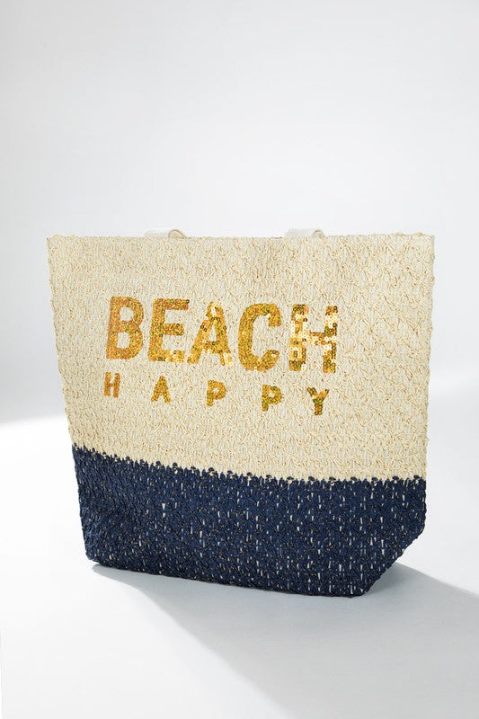 Buy Beach Happy Woven Tote Navy online at Southern Fashion Boutique Bliss
