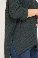 Buy Hi-Lo Sweater Top 3/4 Sleeves Folded Cuffs Sea Green online at Southern Fashion Boutique Bliss