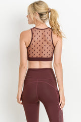 Buy Round Neck Star Mesh Bralette Burgundy online at Southern Fashion Boutique Bliss