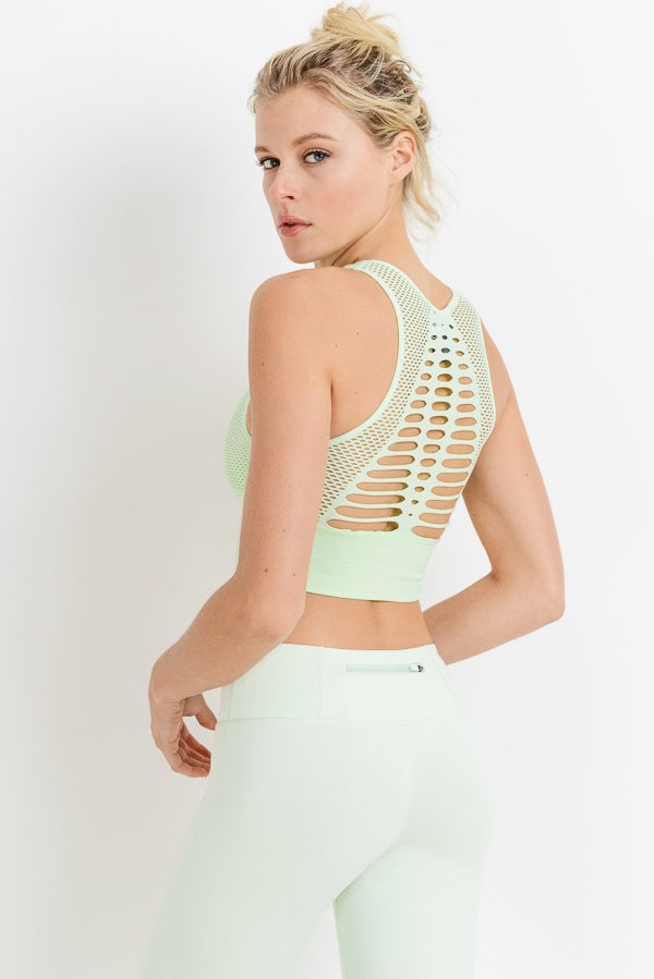 Buy Laser Cut Seamless Bralette Mint online at Southern Fashion Boutique Bliss