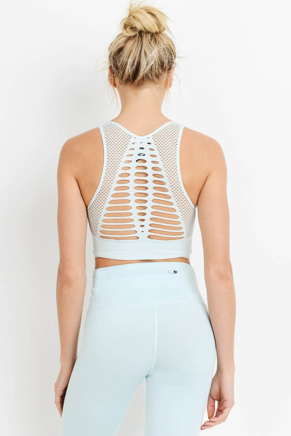 Buy Laser Cut Seamless Bralette Sky Blue online at Southern Fashion Boutique Bliss