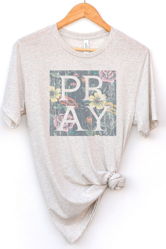 Pray Graphic Tee Oatmeal