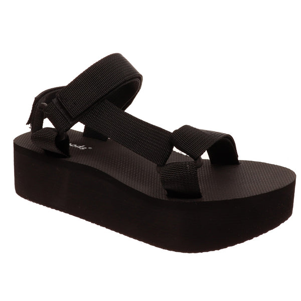Buy Outwoods Platform Sandals Black online at Southern Fashion Boutique Bliss
