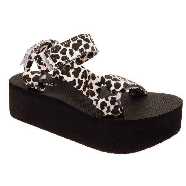 Buy Outwoods Platform Sandals Leopard online at Southern Fashion Boutique Bliss