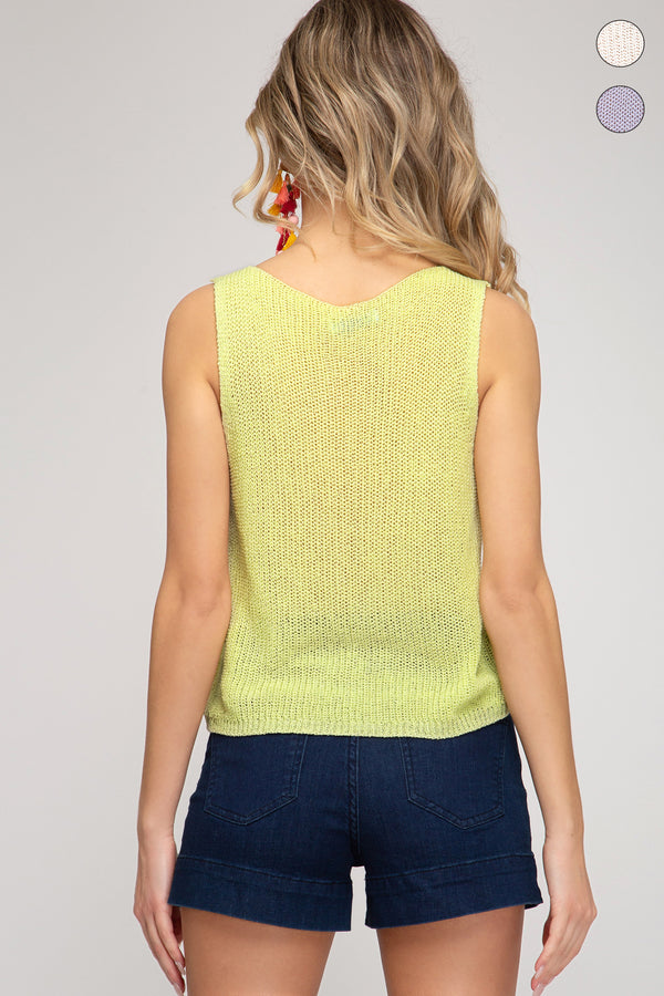 Buy Rouched Knit Sweater Crop Top Lemon online at Southern Fashion Boutique Bliss