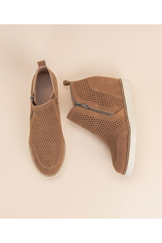 Buy Casual Perforated Sneakers Wedge Camel online at Southern Fashion Boutique Bliss