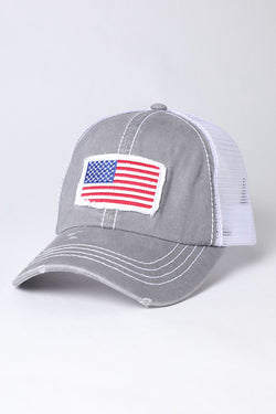 Buy America USA Flag Mesh Snapback Cap Grey online at Southern Fashion Boutique Bliss