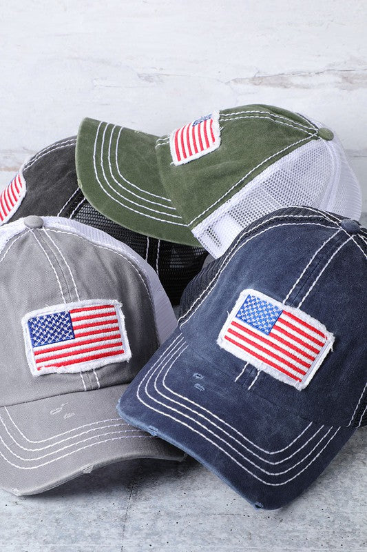 Buy America USA Flag Mesh Snapback Cap Mint online at Southern Fashion Boutique Bliss