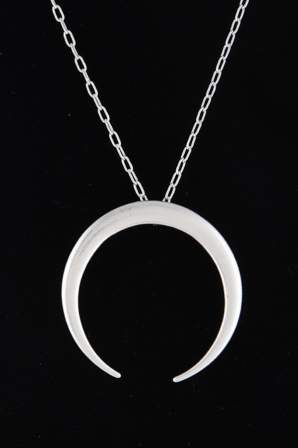 Buy Crescent Pendant Long Necklace Silver online at Southern Fashion Boutique Bliss