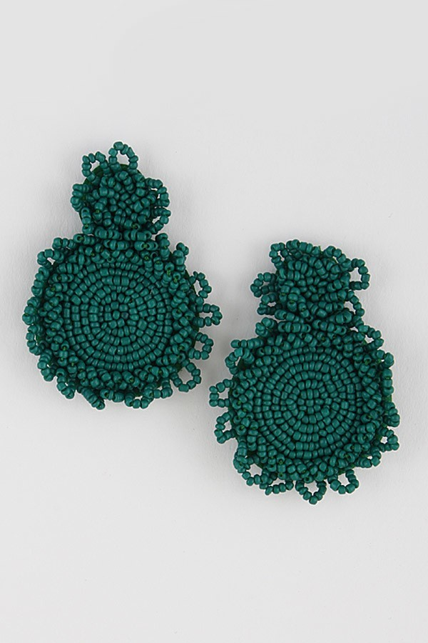 Buy Beaded Cluster Spiral Earrings Green online at Southern Fashion Boutique Bliss
