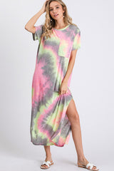Buy Tie Dye Maxi Dress with Pocket Grey Multi online at Southern Fashion Boutique Bliss