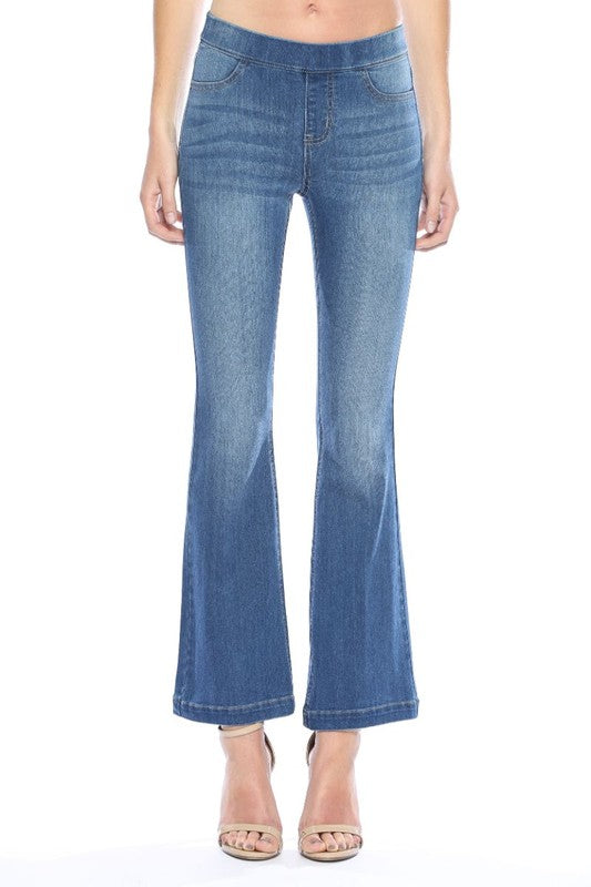 "Buy Medium Denim Flared Jegging 30"" Inseam online at Southern Fashion Boutique Bliss"