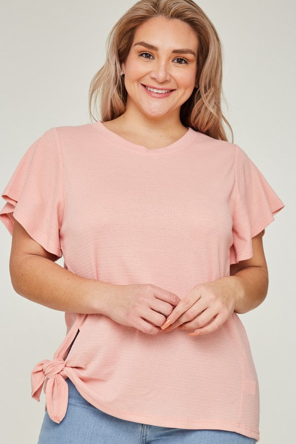 Buy Front Knot Knit Top Pink online at Southern Fashion Boutique Bliss