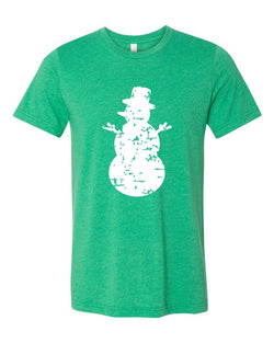 Buy Distressed Snowman Softstyle Tee Green online at Southern Fashion Boutique Bliss