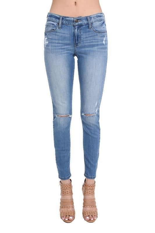 Jude Mid Rise Skinny Ankle Jeans
